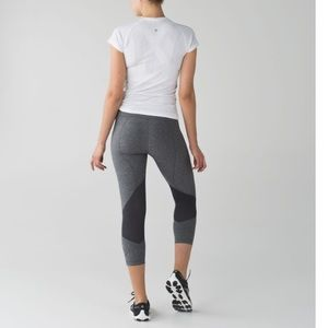 Lululemon Gray Pace Rival Crops Size 4